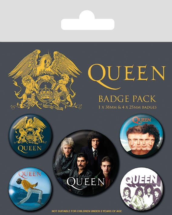 Photo du produit QUEEN PACK 5 BADGES CLASSIC