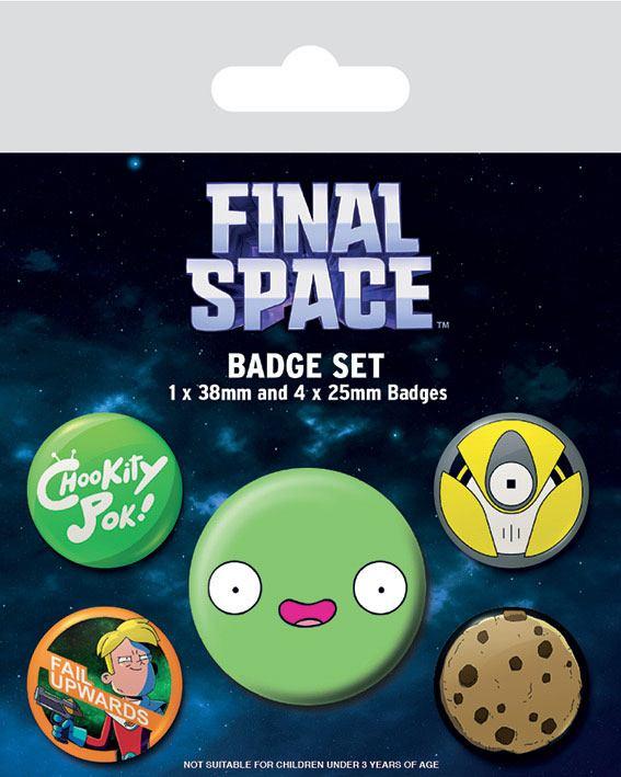 Photo du produit FINAL SPACE PACK 5 BADGES SPACED
