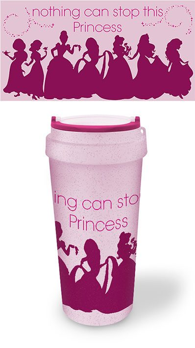 Photo du produit DISNEY PRINCESS MUG DE VOYAGE ECO (BIOPLASTIQUE) NOTHING CAN STOP THIS PRINCESS