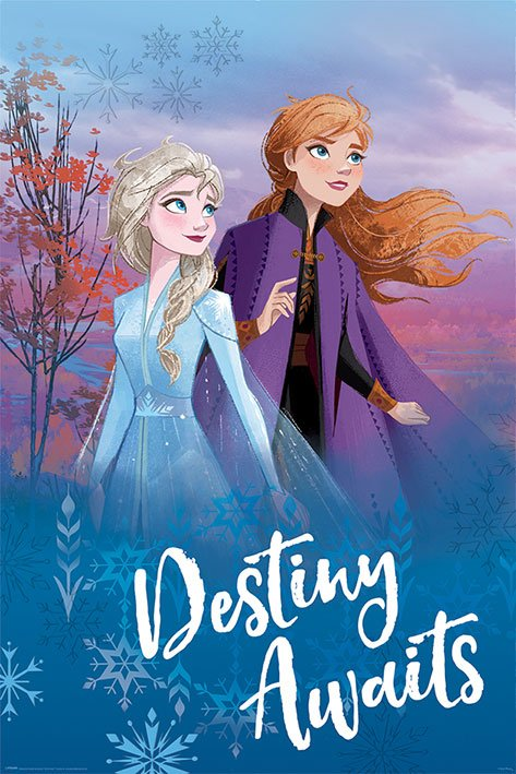 Photo du produit LA REINE DES NEIGES 2 POSTER DESTINY AWAITS 61 X 91 CM