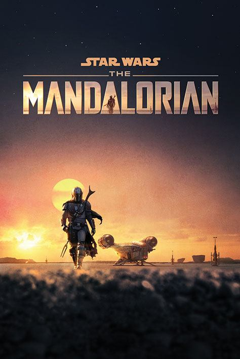 Photo du produit STAR WARS THE MANDALORIAN POSTER DUSK 61 X 91 CM