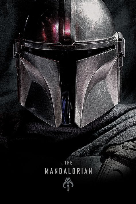 Photo du produit STAR WARS THE MANDALORIAN POSTER DARK  61 X 91 CM