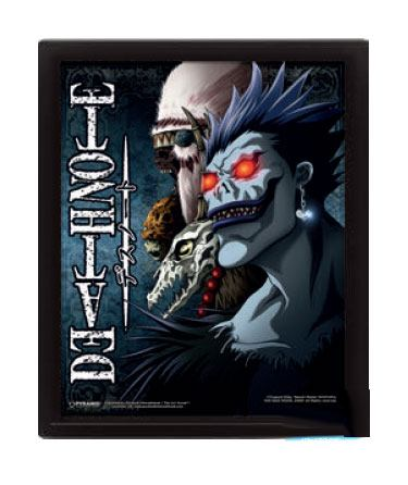 Photo du produit DEATH NOTE PACK POSTERS EFFET 3D ENCADRÉ SHINIGAMI 26 X 20 CM