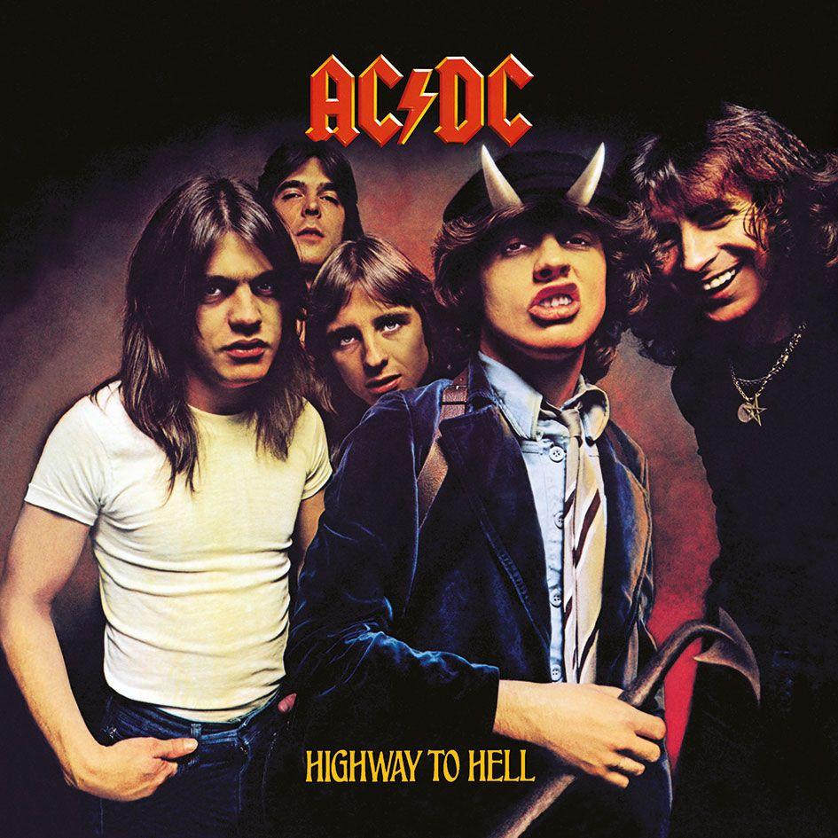 Photo du produit AC/DC TABLEAU TOILE ENCADRÉ HIGHWAY TO HELL 40 X 40 CM
