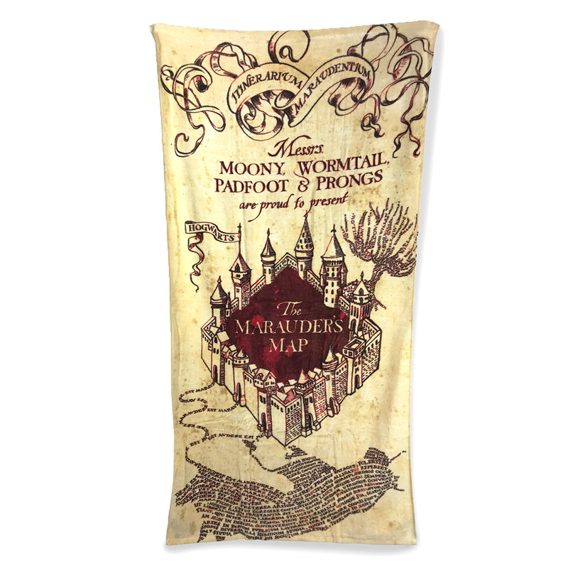 Photo du produit HARRY POTTER SERVIETTE DE BAIN MARAUDER'S MAP 150 X 75 CM