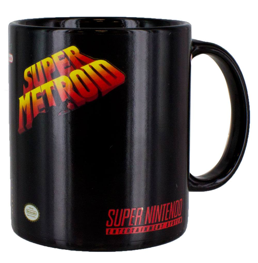 super nintendo mug effet thermique super metroid. Black Bedroom Furniture Sets. Home Design Ideas