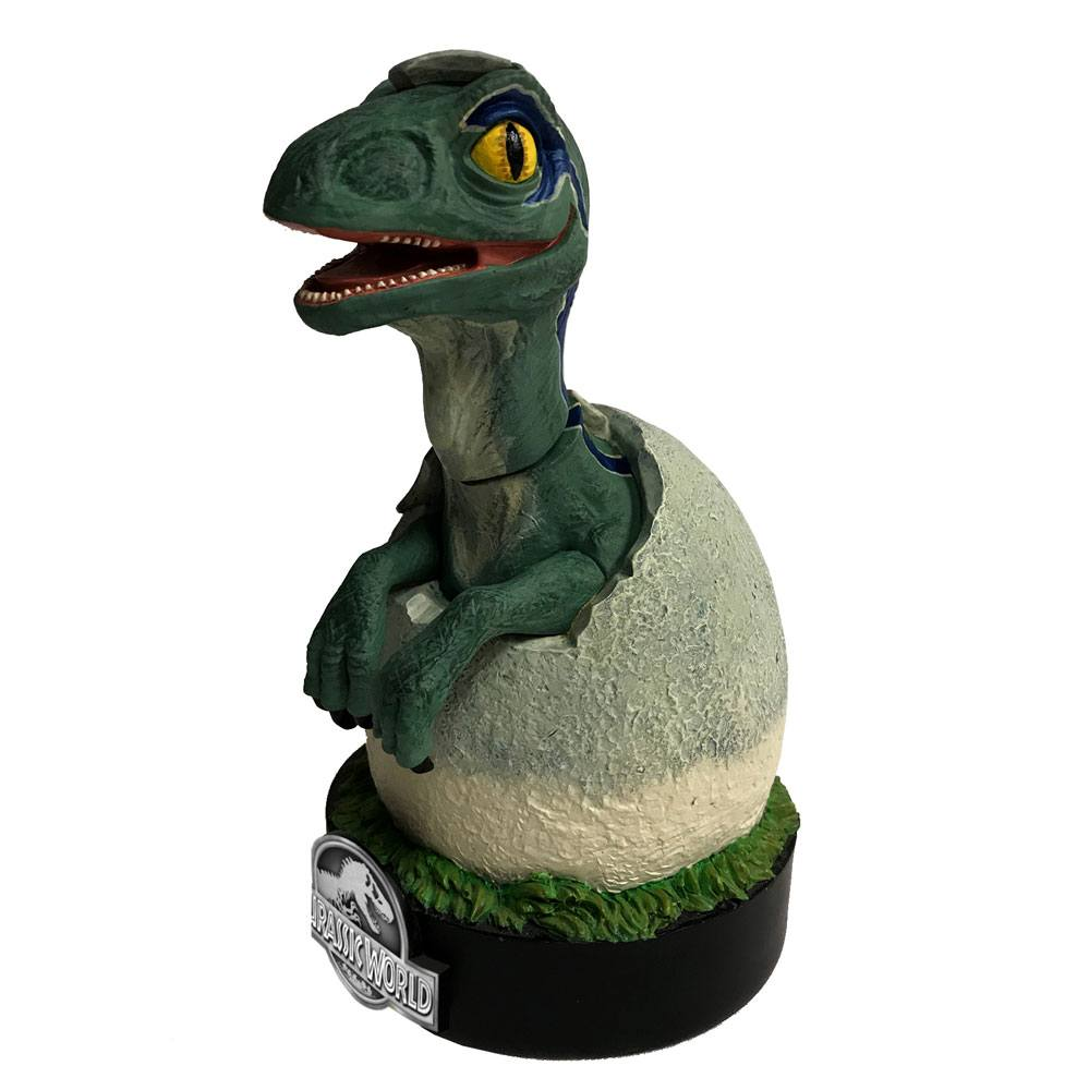 Photo du produit JURASSIC WORLD STATUETTE PREMIUM MOTION BLUE RAPTOR HATCHLING 19 CM