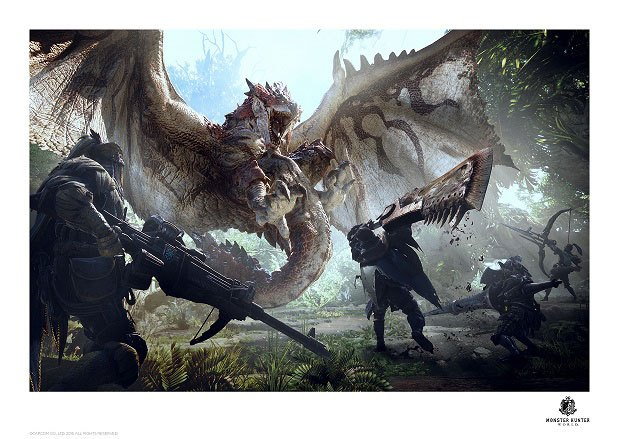 Photo du produit MONSTER HUNTER LITHOGRAPHIE 42 X 30 CM