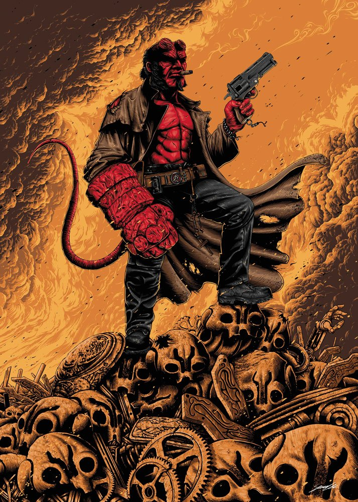 Photo du produit HELLBOY LITHOGRAPHIE 42 X 30 CM
