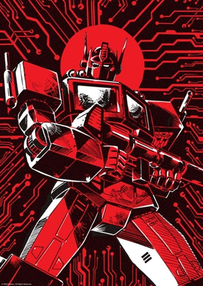 Photo du produit Transformers lithographie Optimus Prime Limited Edition 42 x 30 cm