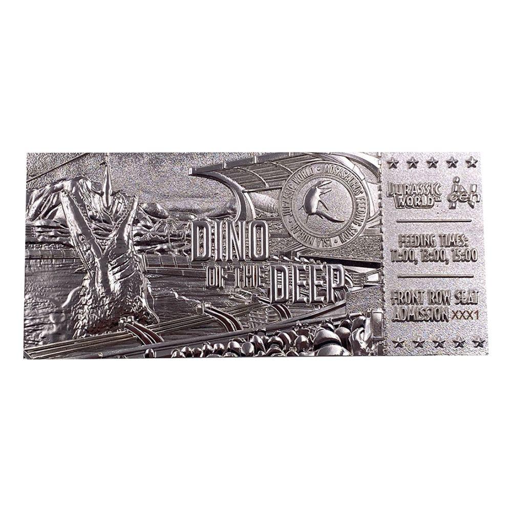 Photo du produit Jurassic Park réplique Ticket Mosasaurus (plaqué argent)