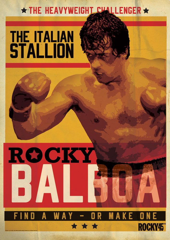 Photo du produit Rocky lithographie Rocky 45th Anniversary 42 x 30 cm
