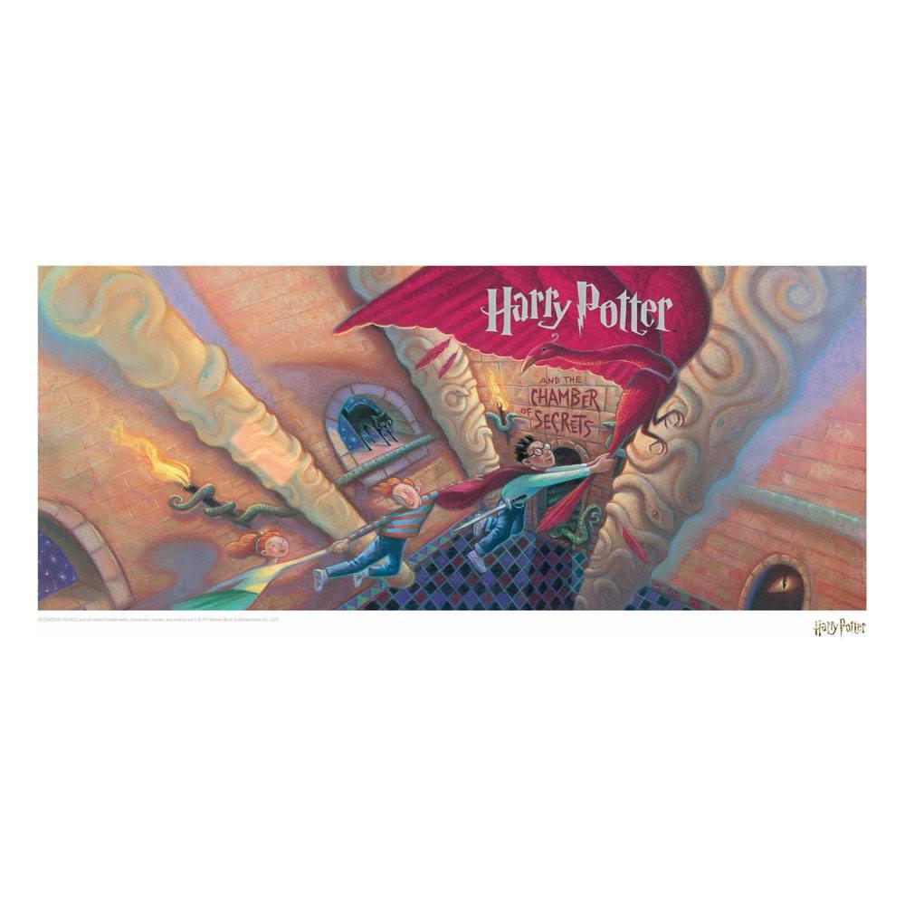 Photo du produit HARRY POTTER LITHOGRAPHIE CHAMBER OF SECRETS BOOK COVER ARTWORK LIMITED EDITION 42 X 30 CM
