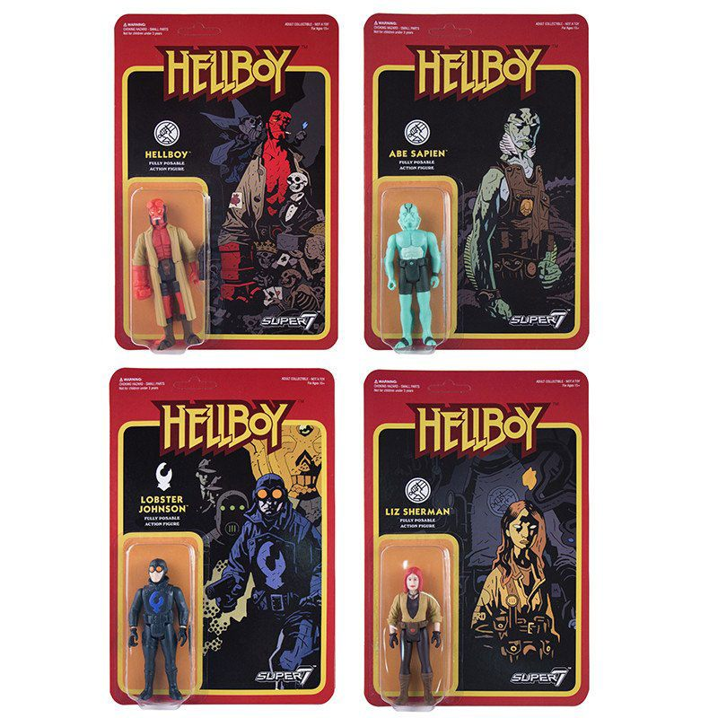 Photo du produit HELLBOY REACTION WAVE 1 4 FIGURINES 10 CM