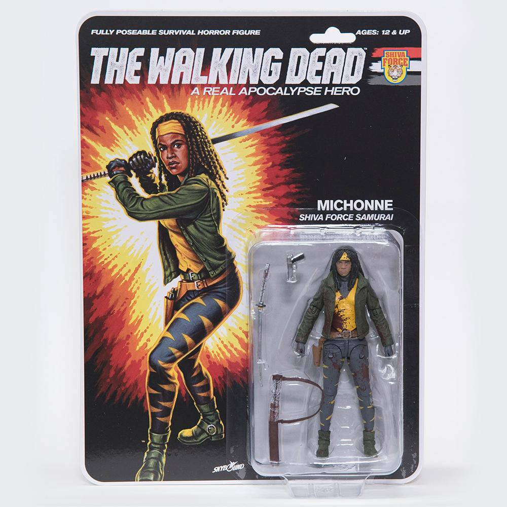 Photo du produit THE WALKING DEAD FIGURINE SHIVA FORCE SAMURAI MICHONNE (BLOODY) 13 CM