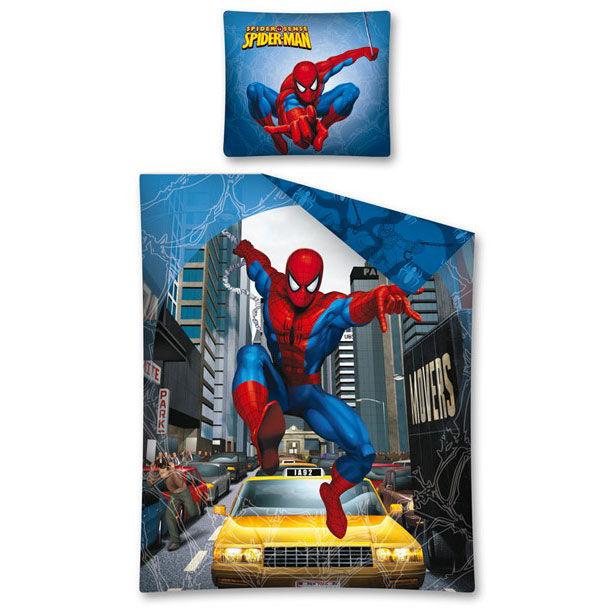 parure de lit spiderman 140 x 200 cm. Black Bedroom Furniture Sets. Home Design Ideas