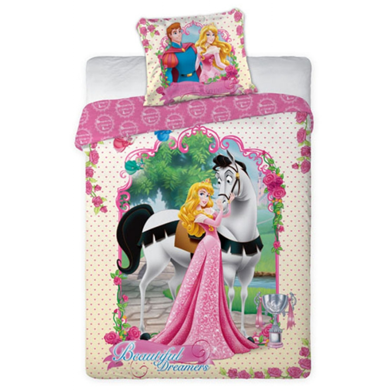 Parure de lit princesses disney 160 x 200 cm disney - Tour de lit princesse disney ...