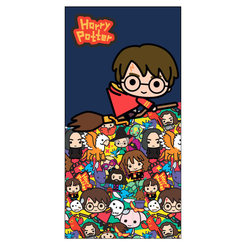 Photo du produit SERVIETTE DE BAIN CHIBI HARRY POTTER EN MICROFIBRE