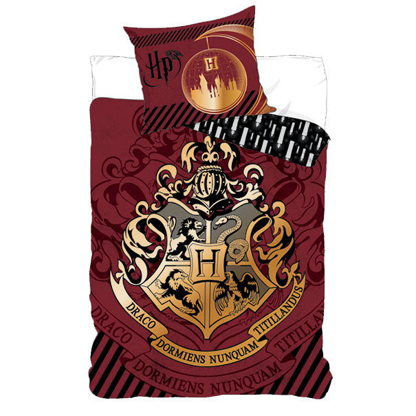Photo du produit PARURE DE LIT HARRY POTTER HOGWARTS BLASON
