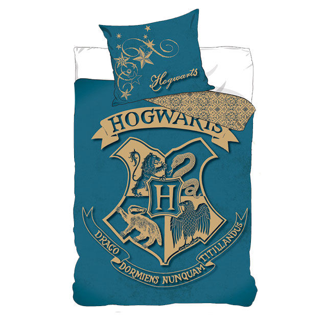 Photo du produit PARURE DE LIT HARRY POTTER HOGWARTS BLASON BLEU