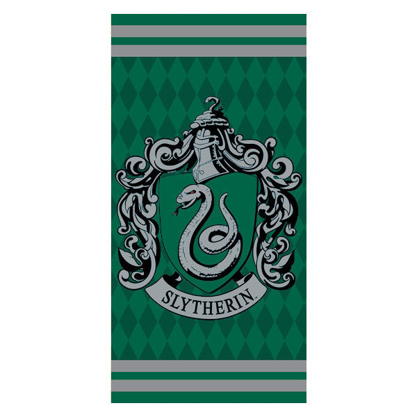 Photo du produit SERVIETTE DE BAIN SLYTHERIN HARRY POTTER 100% COTON