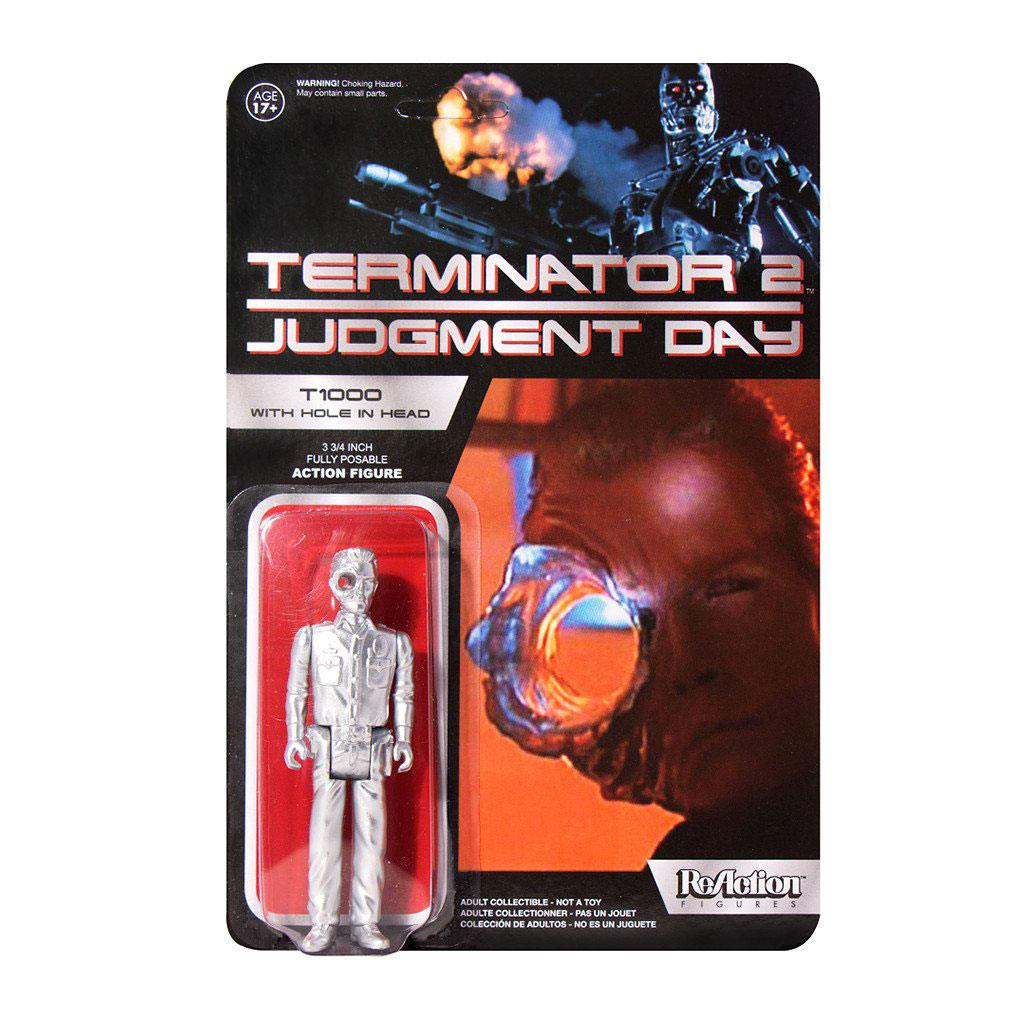 Photo du produit TERMINATOR 2 FIGURINE REACTION T1000 OFFICER WITH HOLE IN THE HEAD SUPER7 EXCLUSIVE