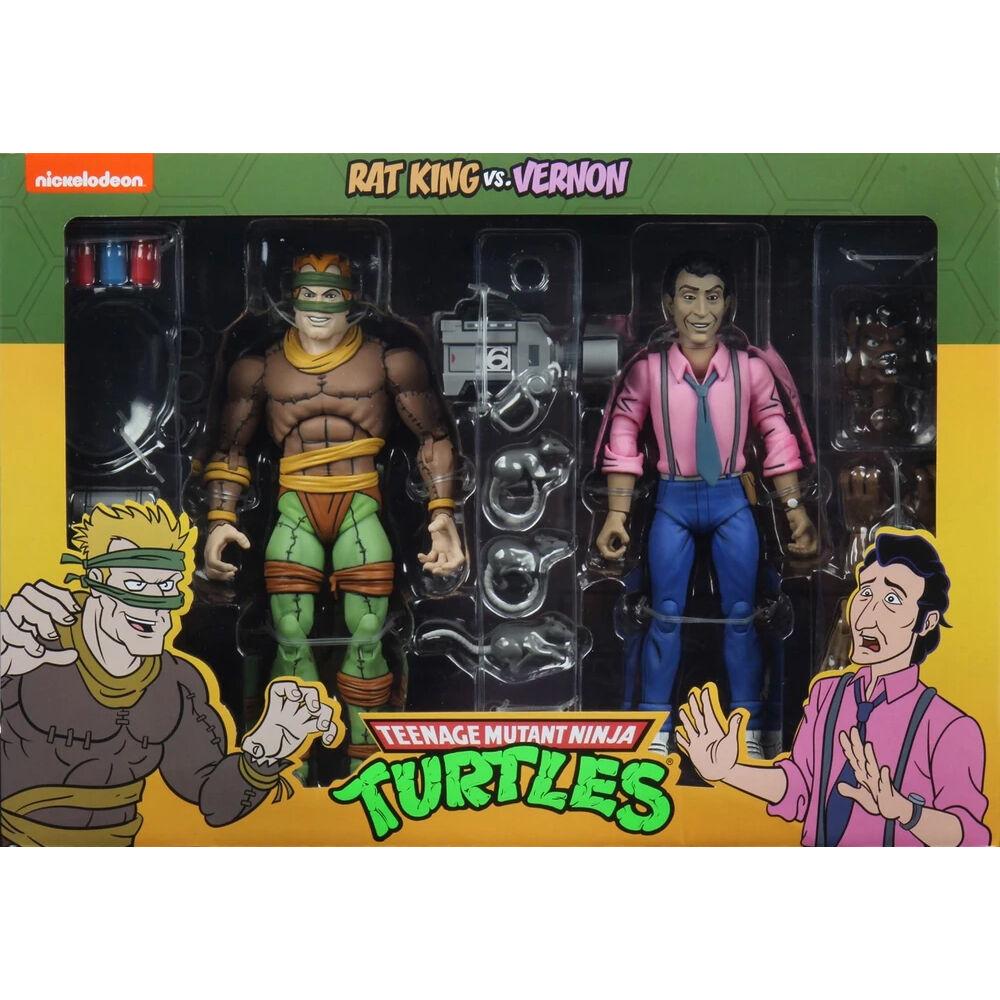 Photo du produit Les Tortues ninja pack 2 figurines Rat King & Vernon 18 cm