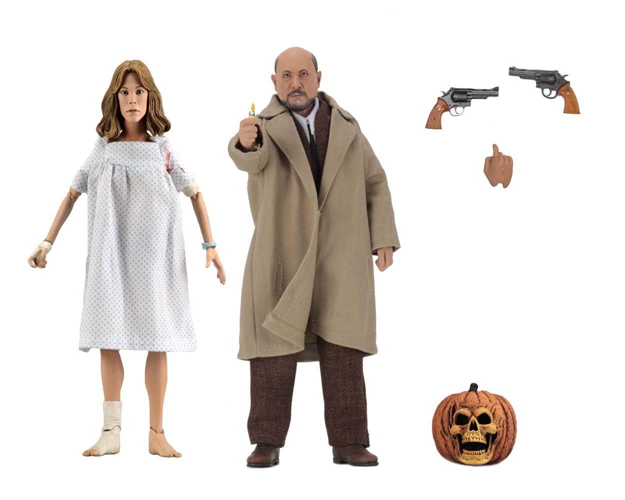 Photo du produit Halloween 2 Le Masque pack 2 figurines Retro Doctor Loomis & Laurie Strode 20 cm