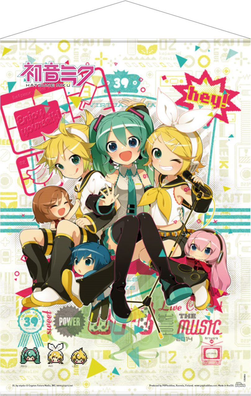Photo du produit VOCALOID WALLSCROLL HEY! PIAPRO CHARACTERS 50 X 70 CM