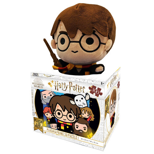 Photo du produit SET PUZZLE LENTICULAIRE CHIBI HARRY POTTER 300 PIECES + PELUCHE HARRY POTTER 20CM
