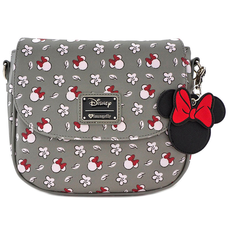Photo du produit DISNEY BY LOUNGEFLY SAC À BANDOULIÈRE MINNIE HEAD & FLOWER PRINT