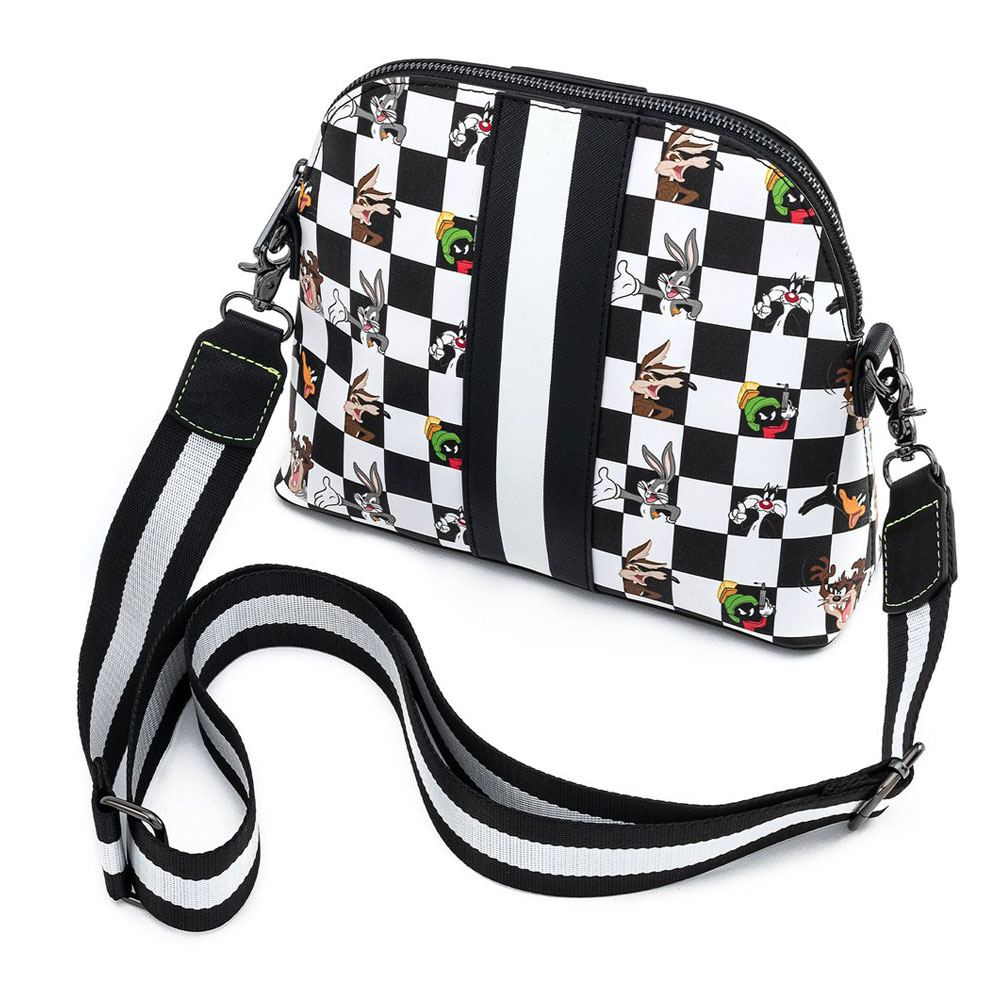 Photo du produit LOONEY TUNES BY LOUNGEFLY SAC À BANDOULIÈRE B&W CHECK CHARACTER
