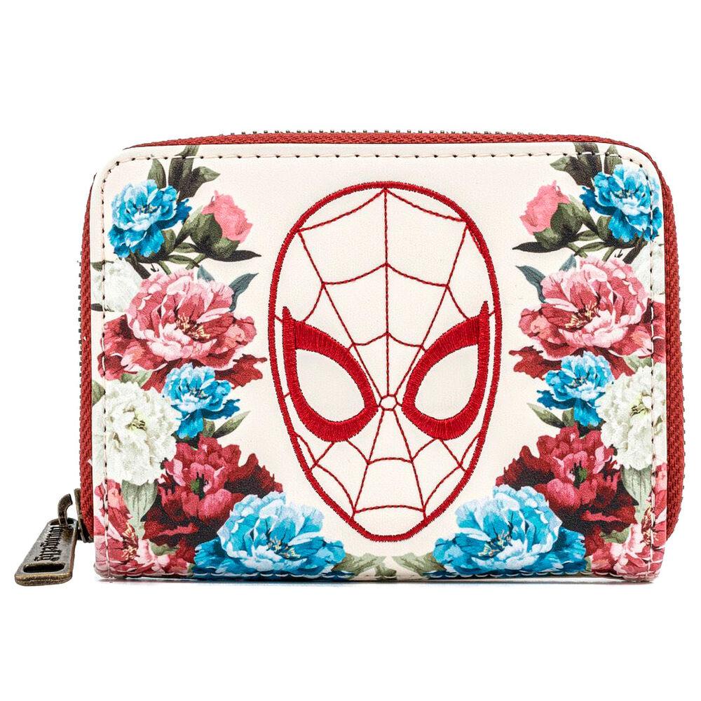 Photo du produit Porte monnaie porte carte Floral Spiderman Marvel Loungefly