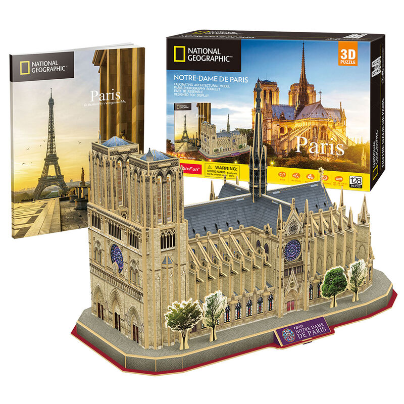 Photo du produit PUZZLE 3D NOTRE DAME PARIS NATIONAL GEOGRAPHIC