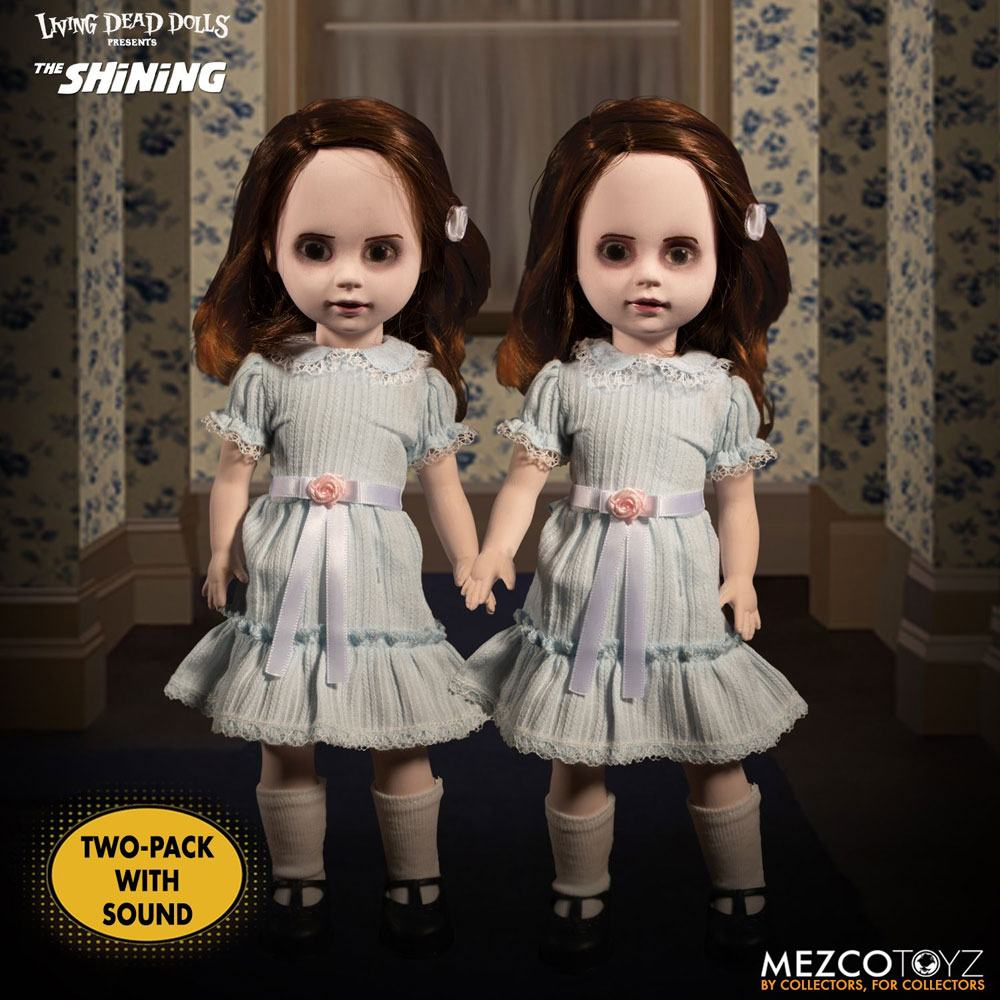 Photo du produit SHINING LIVING DEAD DOLLS PACK POUPÉES SONORES THE GRADY TWINS 25 CM