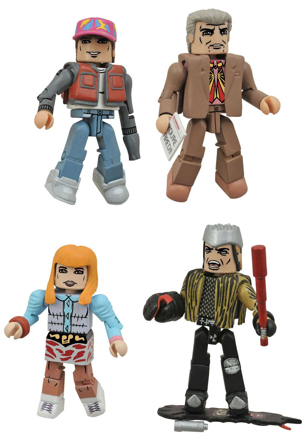 Photo du produit RETOUR VERS LE FUTUR PACK 4 FIGURINES MINIMATES 30TH ANNIVERSARY HILL VALLEY