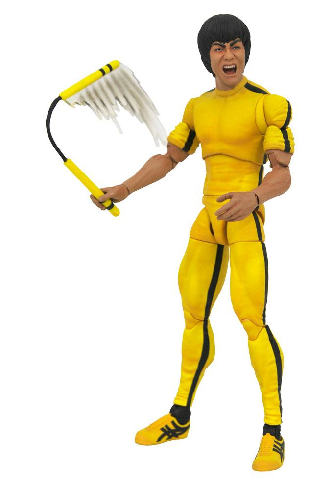 Photo du produit BRUCE LEE SELECT FIGURINE YELLOW JUMPSUIT 18 CM