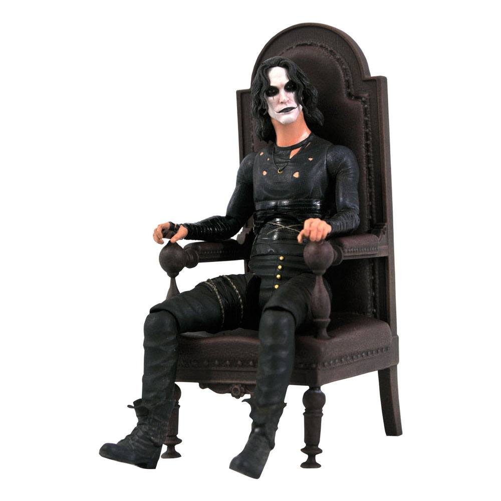 Photo du produit The Crow figurine Deluxe Eric Draven in Chair SDCC 2021 Exclusive 18 cm