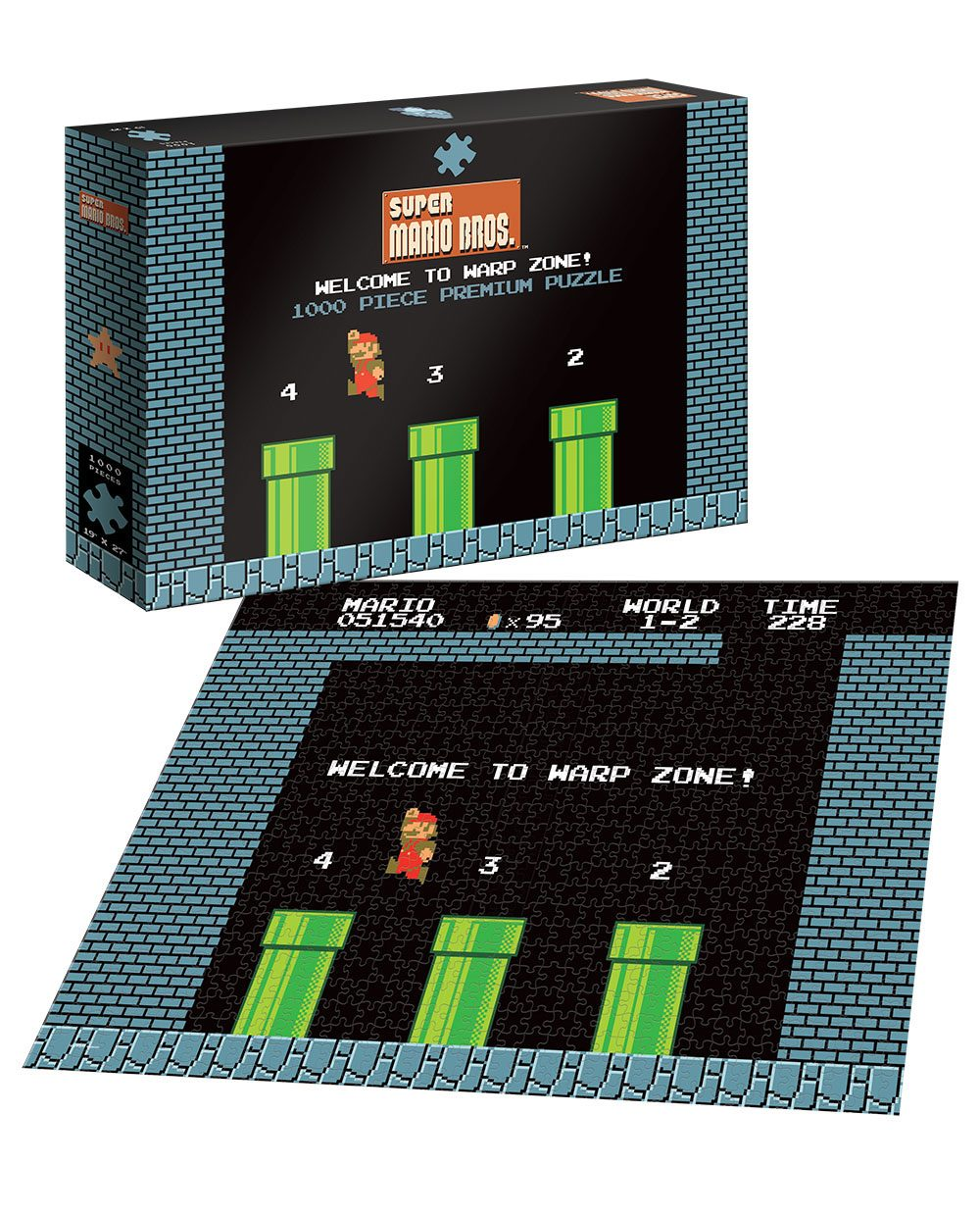 Photo du produit SUPER MARIO PUZZLE WELCOME TO WARP ZONE