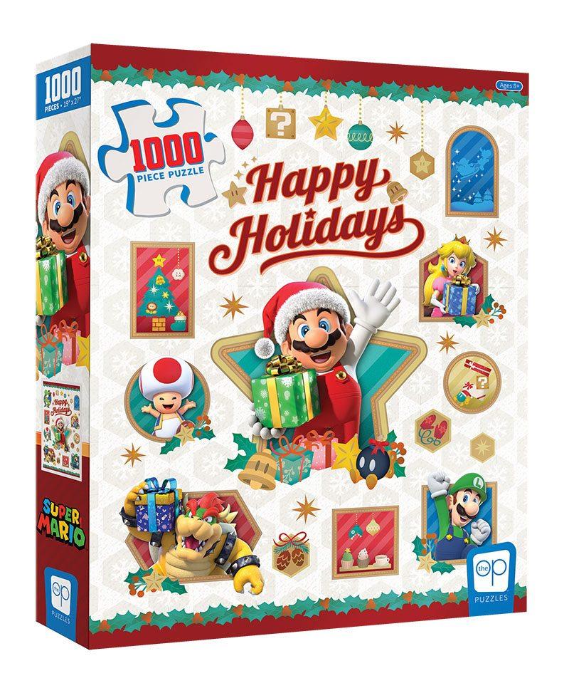Photo du produit Super Mario puzzle Happy Holidays (1000 pièces)
