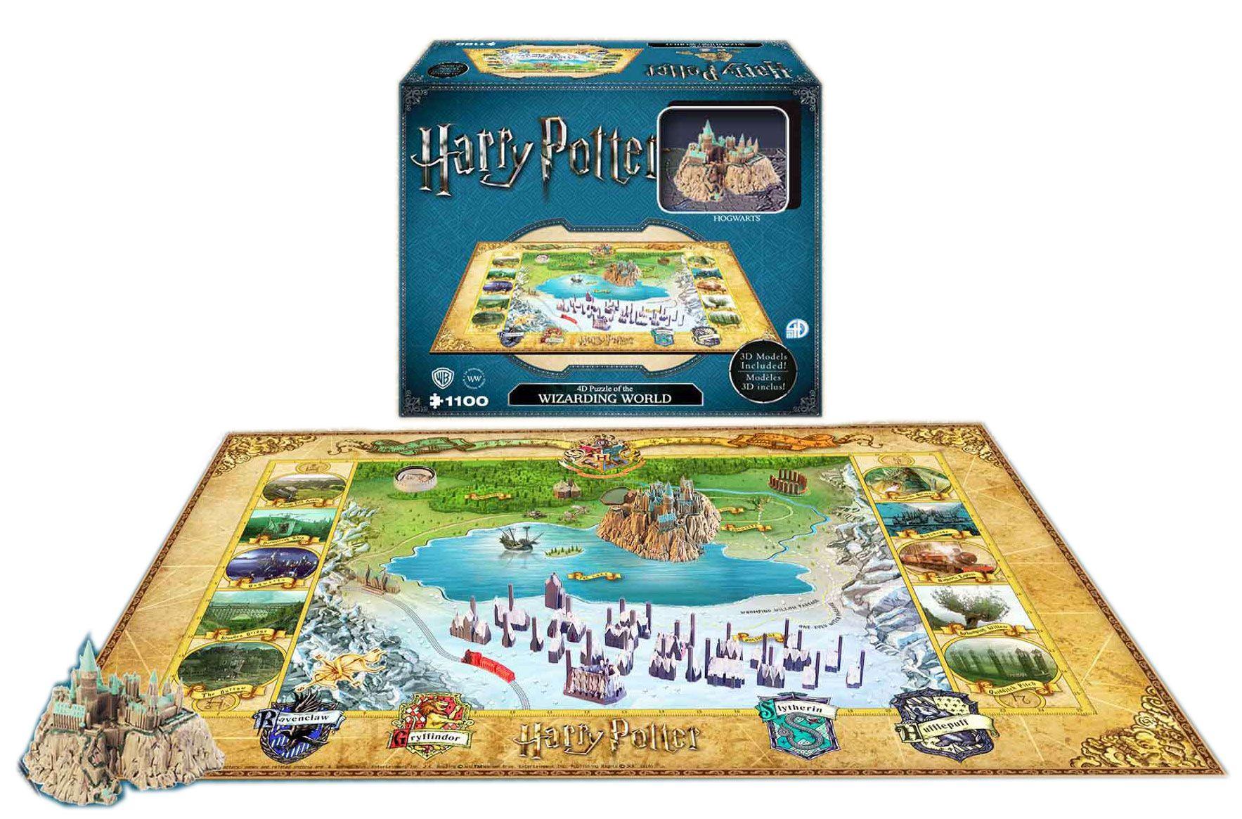 Photo du produit HARRY POTTER PUZZLE 4D LARGE THE WIZARDING WORLD (800 PIÈCES)