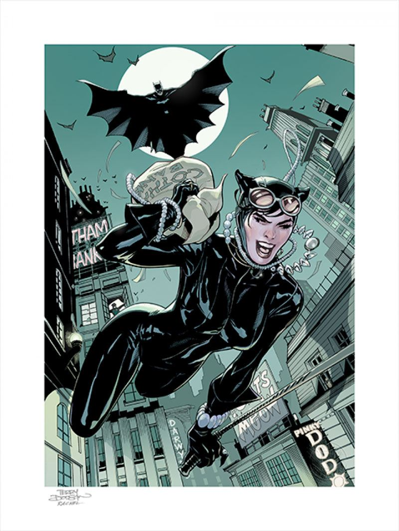 Photo du produit DC COMICS IMPRESSION ART PRINT THE GETAWAY / BATMAN & CATWOMAN 46 X 61 CM - NON ENCADRÉE