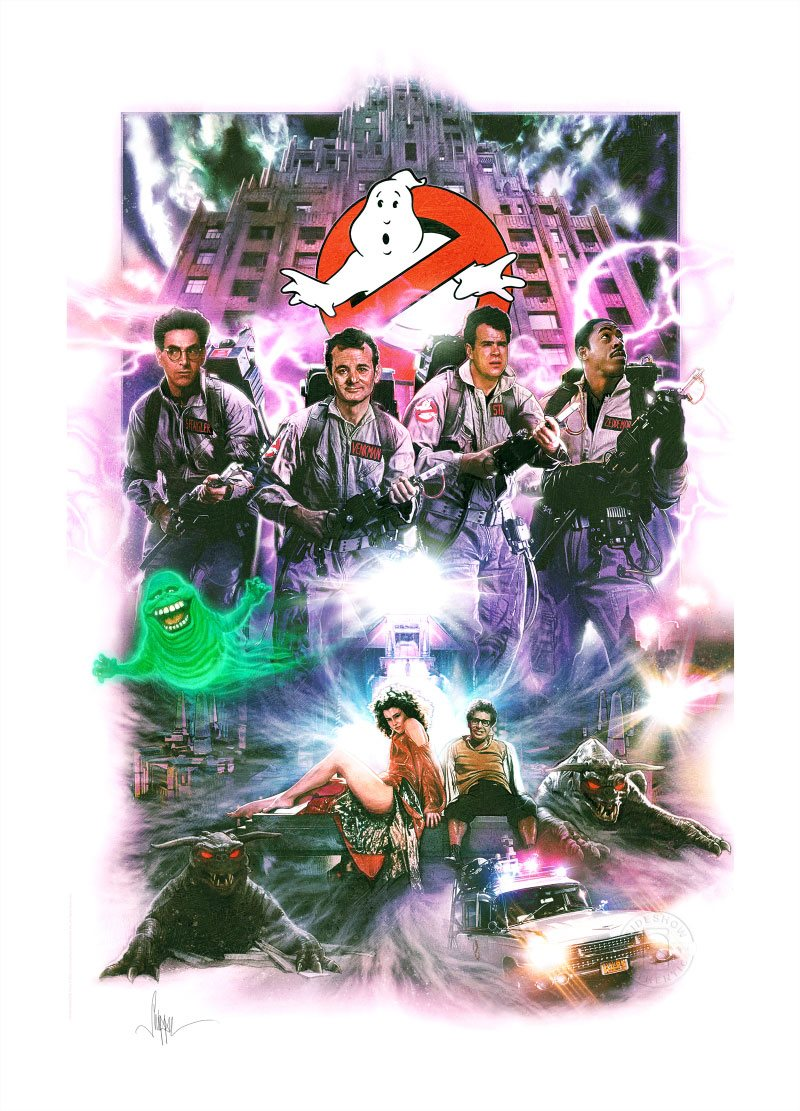 Photo du produit GHOSTBUSTERS IMPRESSION ART PRINT GHOSTBUSTERS 46 X 61 CM - NON ENCADRÉE