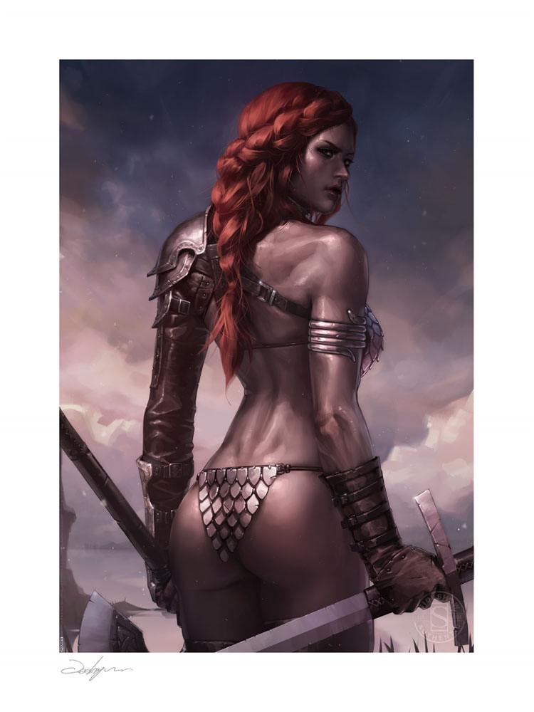 Photo du produit RED SONJA IMPRESSION ART PRINT BIRTH OF THE SHE-DEVIL (PRE-BATTLE VERSION) 46 X 61 CM - NON ENCADRÉE