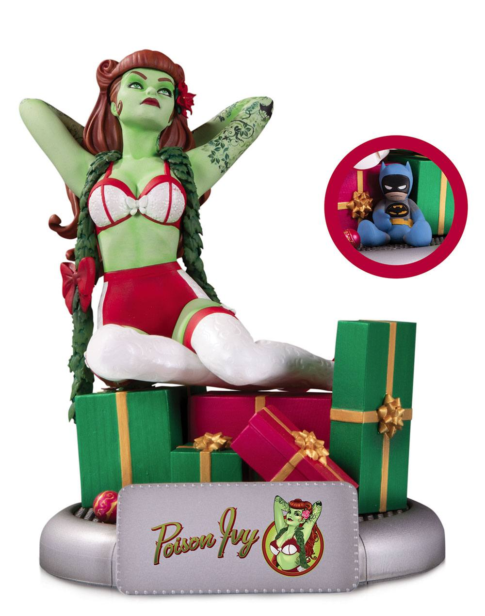 Photo du produit DC COMICS BOMBSHELLS STATUETTE POISON IVY HOLIDAY VARIANT 19 CM
