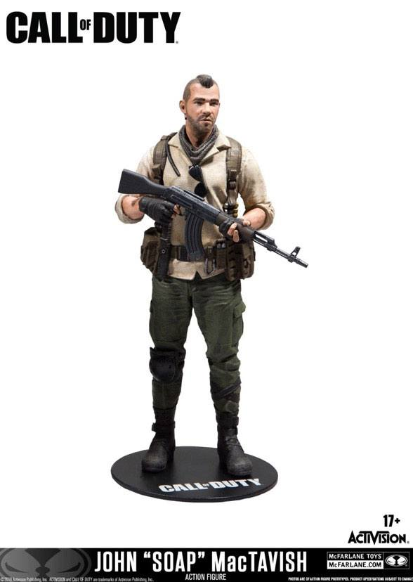 Photo du produit CALL OF DUTY FIGURINE JOHN SOAP MACTAVISH 15 CM