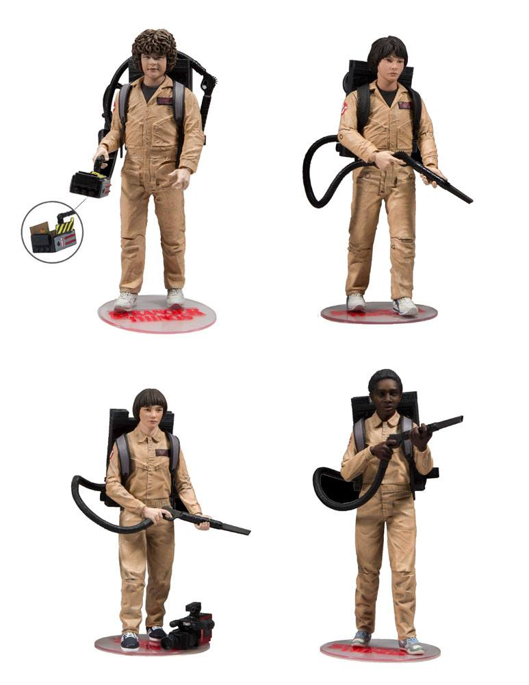 Photo du produit STRANGER THINGS PACK 4 FIGURINES GHOSTBUSTERS 15 CM