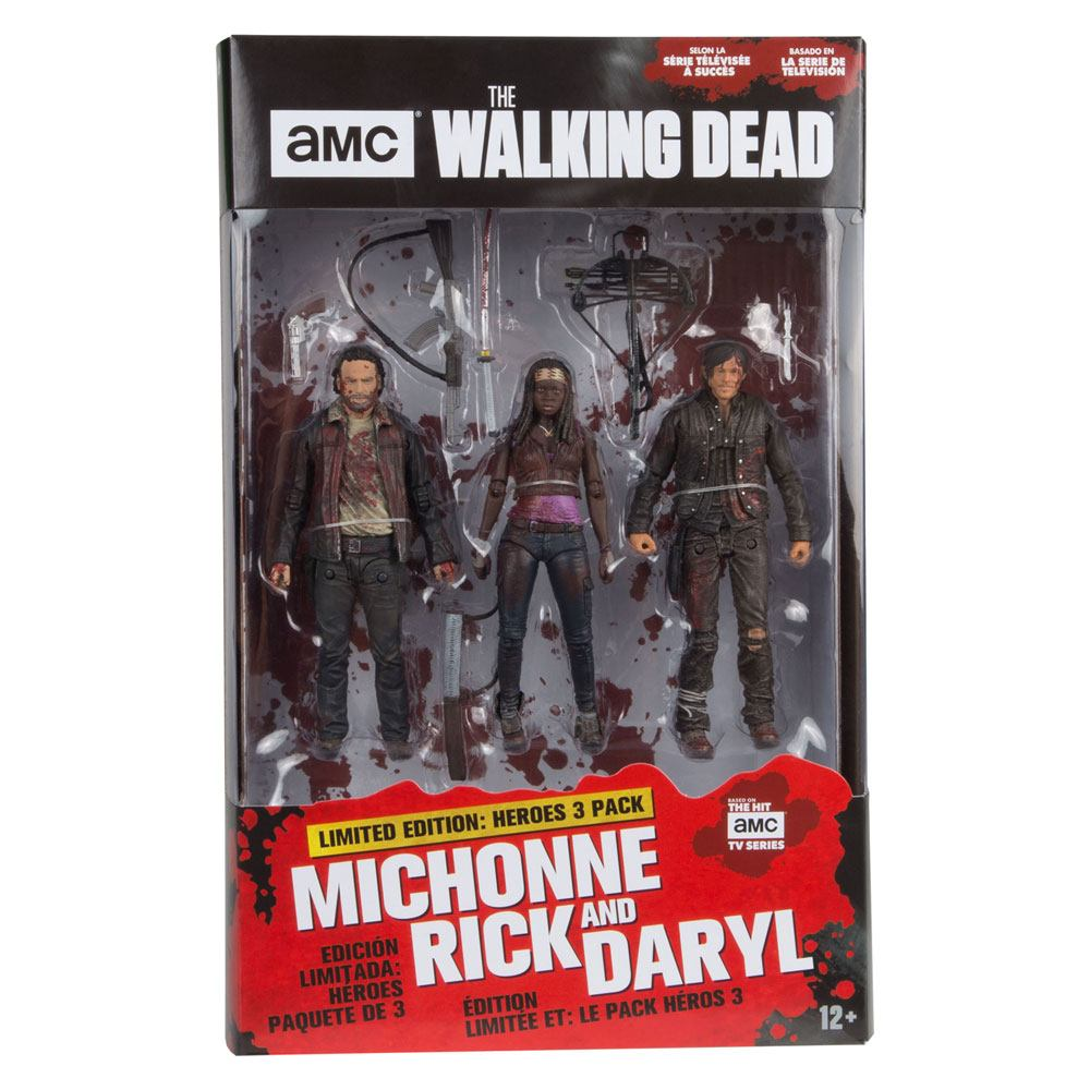 Photo du produit THE WALKING DEAD TV VERSION PACK 3 FIGURINES HEROES 13 CM