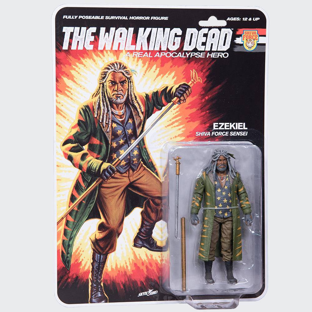 Photo du produit THE WALKING DEAD FIGURINE SHIVA FORCE SENSEI EZEKIEL (COLOR) 13 CM