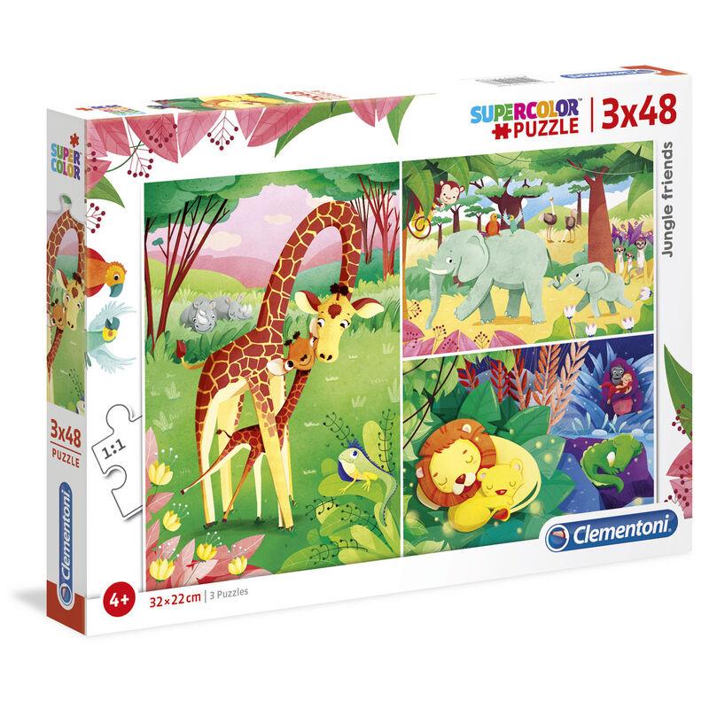 Photo du produit Puzzle Animaux de la Savane 3x48 pièces